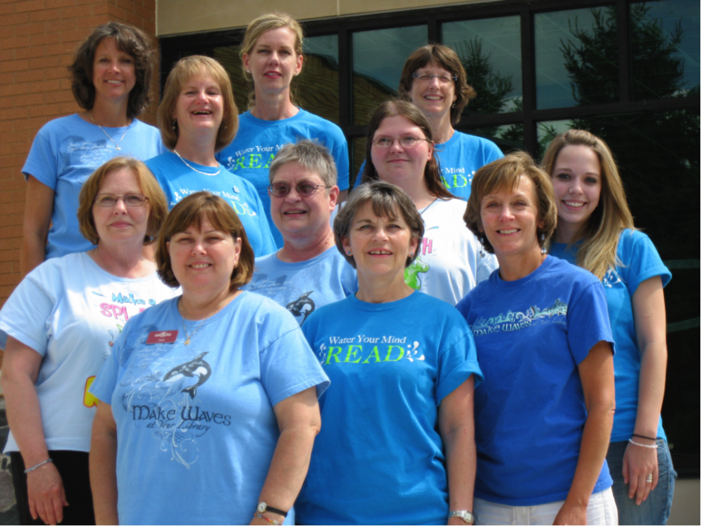 Library staff during summer 2010
