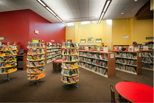Interior of the children's library