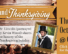 Lincoln and Thanksgiving on Thursday, October 28th at 6:30 PM. Mr. Lincoln (portrayed by Kevin Wood) shares the history of the Thanksgiving holiday. Click here to RSVP for this in person event.